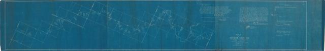 Map of Definite Location, Shawnee, Oklahoma & Missouri Coal and Railway Co, Third Section