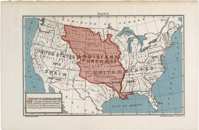 Map of the Louisiana Purchase Territory