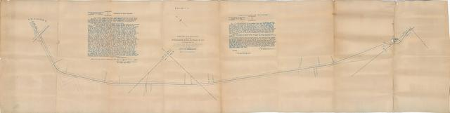 Map of the Railway of the Ardmore Coal & Power Co., Connecting its Mines, etc. with the City of Ardmore Railway at the South Corporation Line of the City of Ardmore