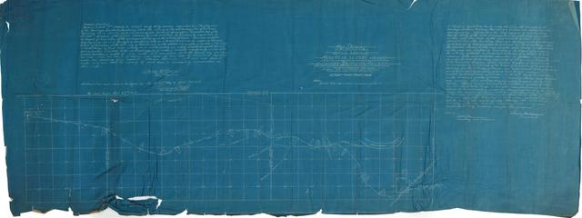 Map Show Definite Location of Miles 60.15 to 15.51 inclusive, Muskogee Southern Railway