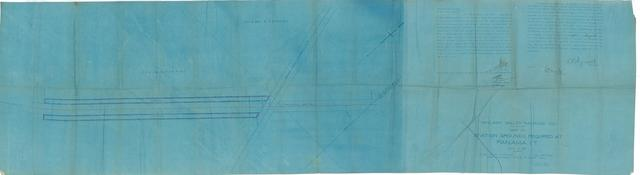 Midland Valley Railroad Co. Map of Station Grounds Required at Panama, I.T.