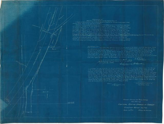 Missouri, Kansas & Texas Railway. Map Showing Additional Station Grounds at Crowder, Choctaw Nation, Ind. Ter.