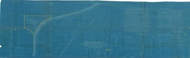 "Muskogee Union Railway. Map Showing Property to be Acquired at ""Additional Lands for Railroad Purposes"" T. 15 N., R. 18 E."