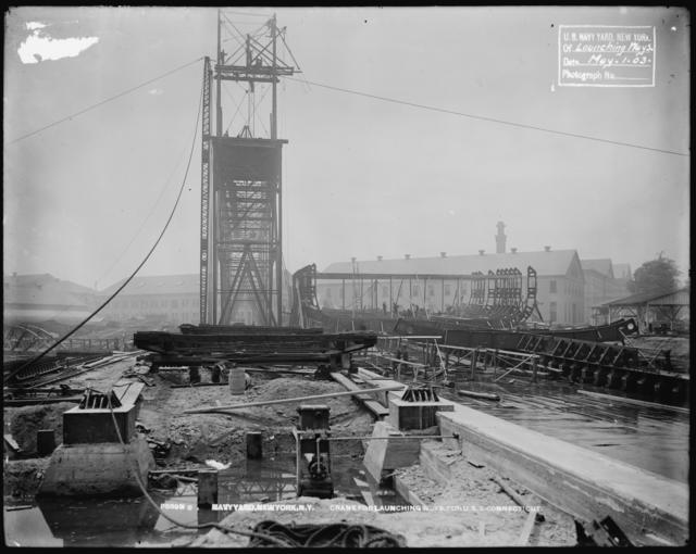 Crane for Launching Ways for U.S.S. Connecticut