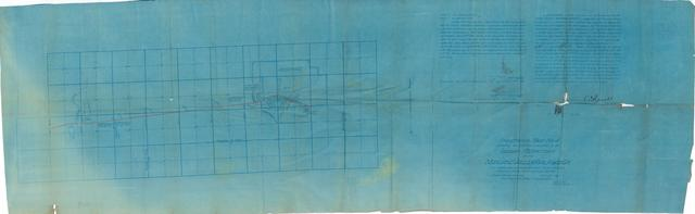 Fractional Map No. 4 Showing the Definite Location in the Indian Territory of the Midland Valley Railroad Co.