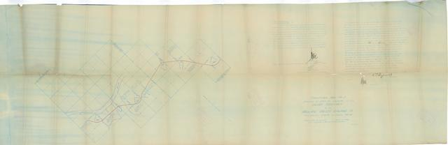 Fractional Map No. 5 Showing the Definite Location in the Indian Territory of the Midland Valley Railroad Co.