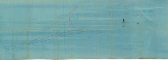 Midland Valley Railroad Co. Map Additional Grounds Required at Maney, I.T.