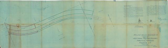 Midland Valley Railroad Co. Map of Additional Grounds Required for Railroad Purposes at Keota, I.T.