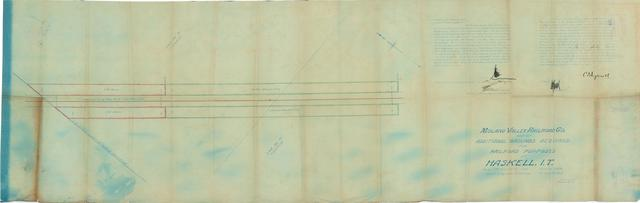 Midland Valley Railroad Co., Map of Additional Grounds Required for Railroad Purposes at Haskell, I.T.