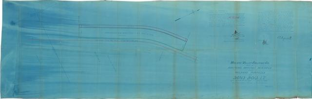 Midland Valley Railroad Co., Map of Additional Grounds Required for Railroad Purposes at Sans Bois, I.T.