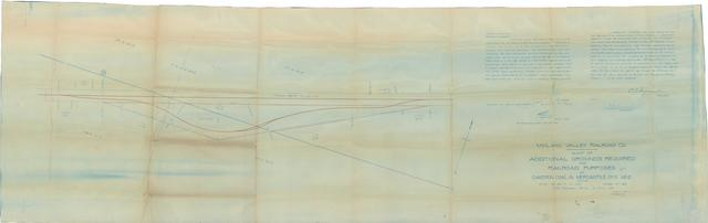 Midland Valley Railroad Co. Map of Additional Grounds Required for Railroad Purposes at Cameron Coal & Mercantile Co's Mine