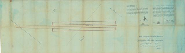 Midland Valley Railroad Co., Map of Station Grounds Required at Haskell, I.T.