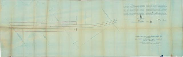 Midland Valley Railroad Co., Map of Station Grounds Required at Stigler, I.T.