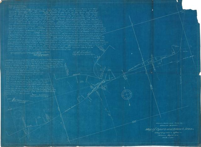 Missouri, Kansas and Texas Ry. Edwards Branch, Map of Spurs and Branch Lines