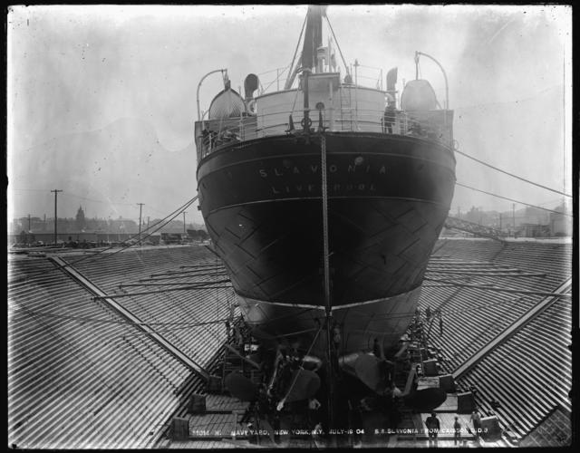S.S. Slavonia from Caisson, Dry Dock 3