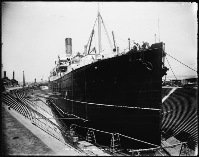 S.S. Slavonia from Head, Dry Dock 3
