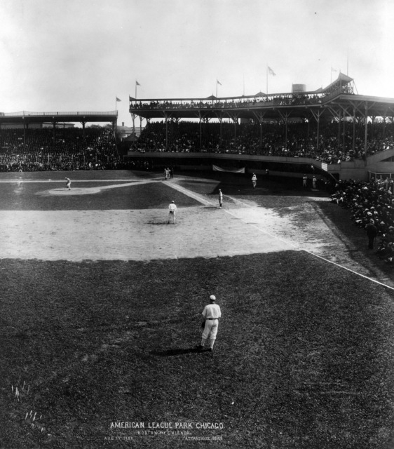 Photograph of a Baseball Game between Boston and Chicago at South Side Park in Chicago, Illinois