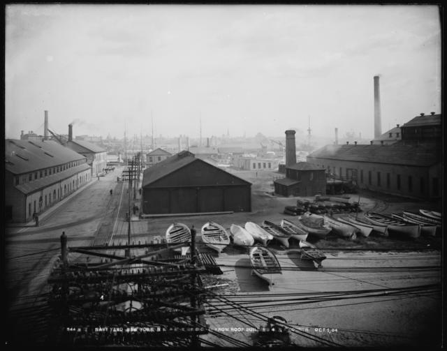 Site of Dry Dock No. 4 from Roof Building at Northeast Corner