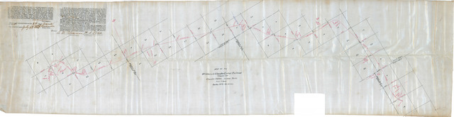 Map of the Oklahoma & Cherokee Central Railroad through the Cherokee Nation, Indian Territory