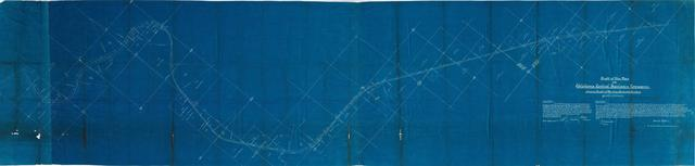Right of Way Map of the Oklahoma Central Railway Company Showing Right of Way from Sta. 641 + 09 to Sta. 1169 + 09