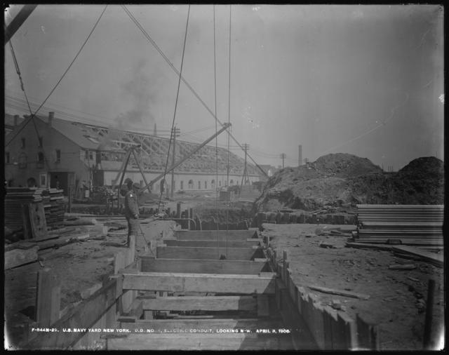 Dry Dock Number 4, Electric Conduit, Looking Northwest