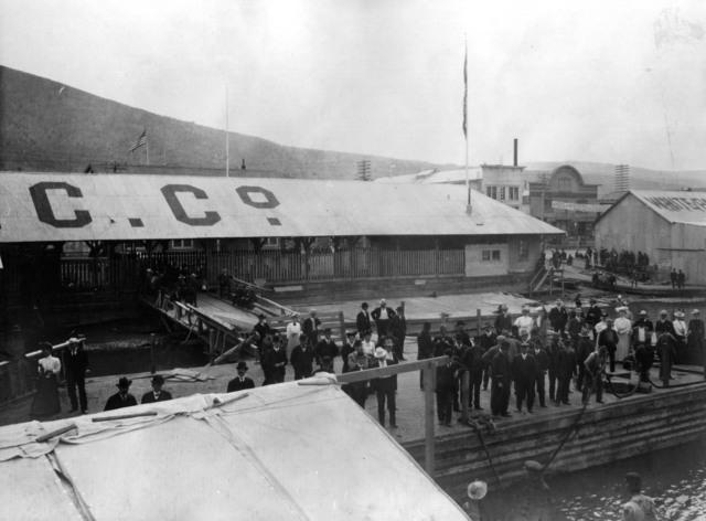 Photograph of Dock in Dawson City, Yukon