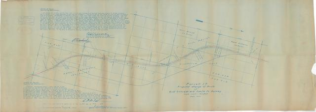 Purcell, I.T. Proposed Change to Route of Gulf Colorado and Santa Fe Railway
