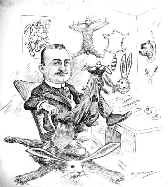 Secretary Loeb and his Trophies