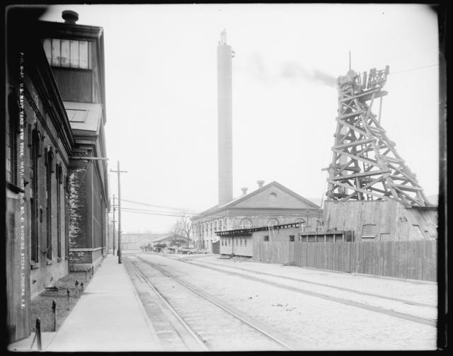 Building No. 41 Showing Stack Looking Southeast