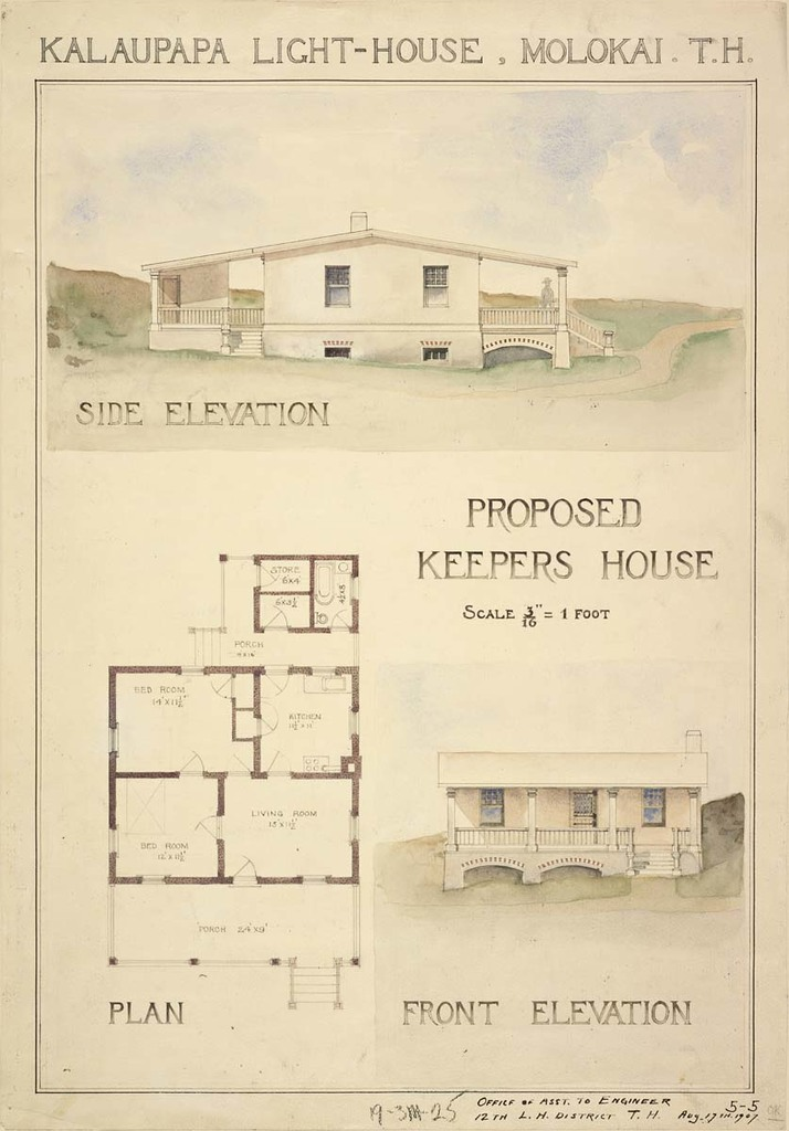 Plan for Proposed Lighthouse Keeper's House