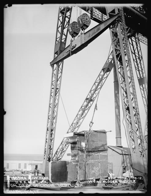 Setting the Rudder of the U.S.S. New York