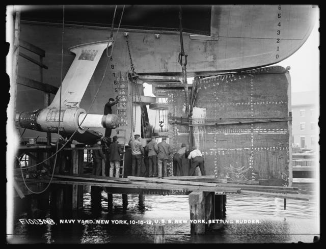 U.S.S. New York Setting Rudder