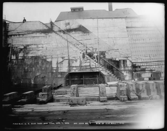 Dry Dock Number 2, View of East Wall, 0-40
