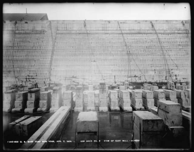 Dry Dock Number 2, View of East Wall, 120-200