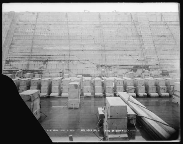 Dry Dock Number 2, View of East Wall, 200-290