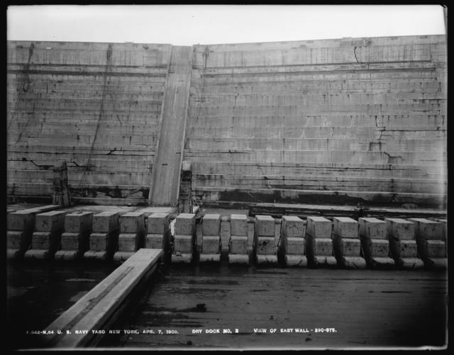 Dry Dock Number 2, View of East Wall, 290-375