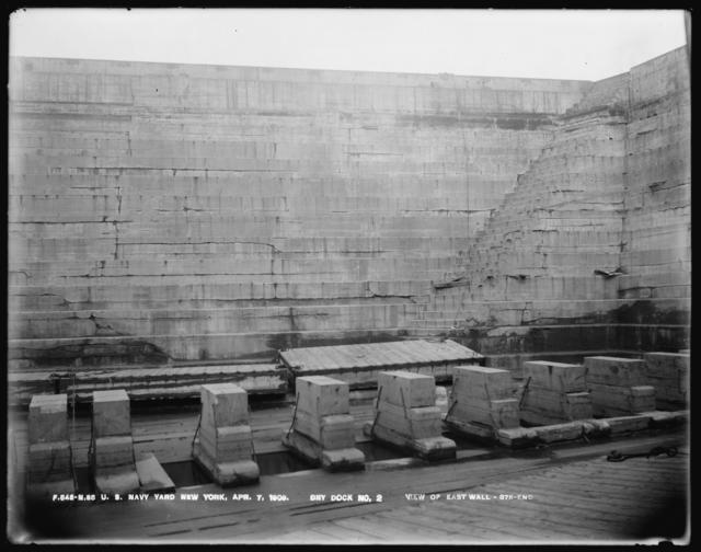 Dry Dock Number 2, View of East Wall, 375-End