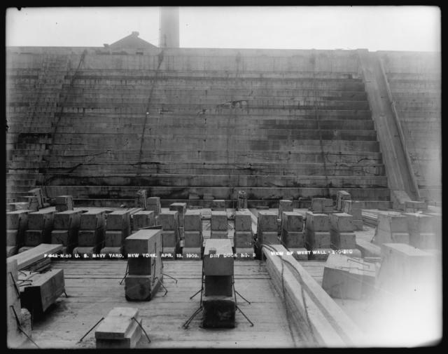 Dry Dock Number 2, View of West Wall, 200-280