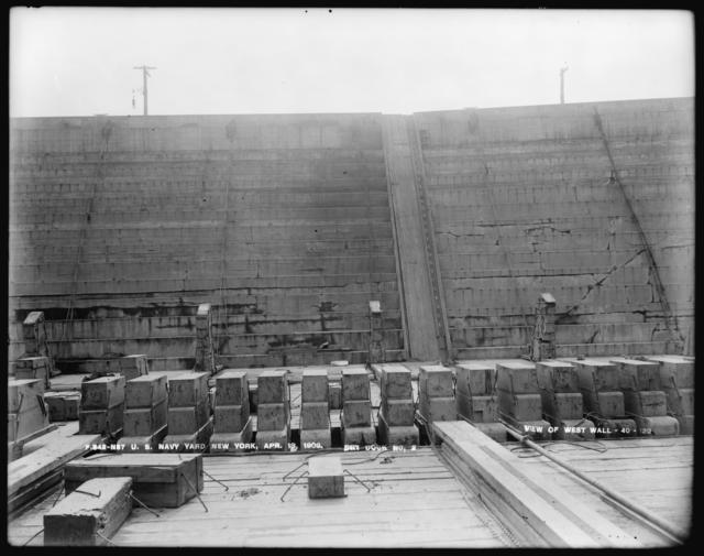 Dry Dock Number 2, View of West Wall, 40-120