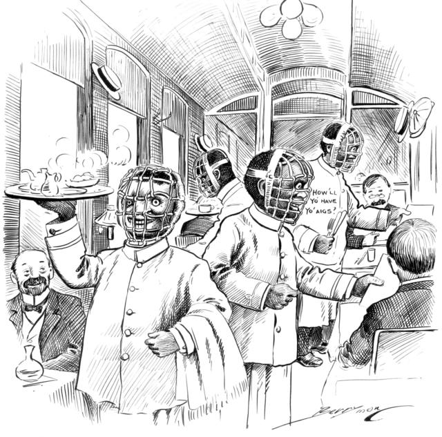 The Latest Approved Costume For Dining Car Waiters