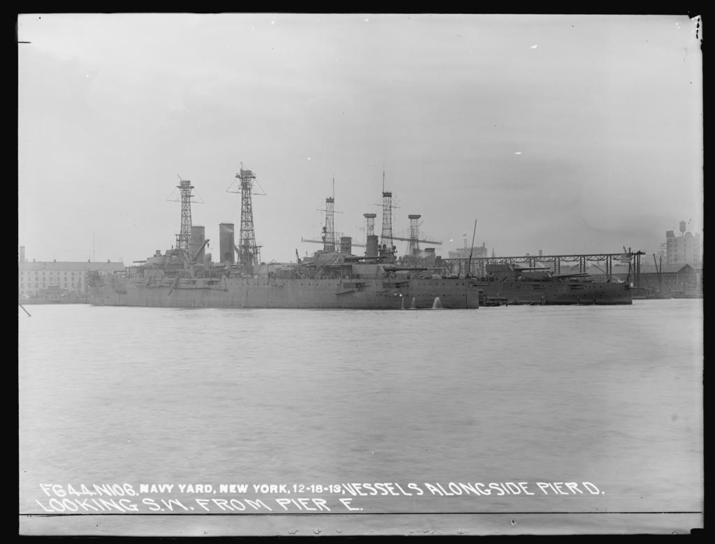 Vessels Alongside Pier D Looking Southwest from Pier E