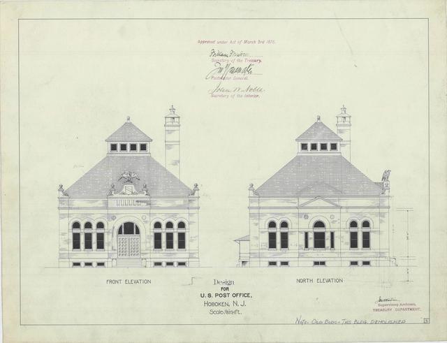 Presentation Drawing of the Hoboken, NJ PO