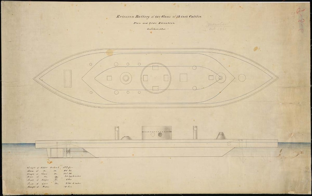 Side Elevation of the U.S.S. Monitor