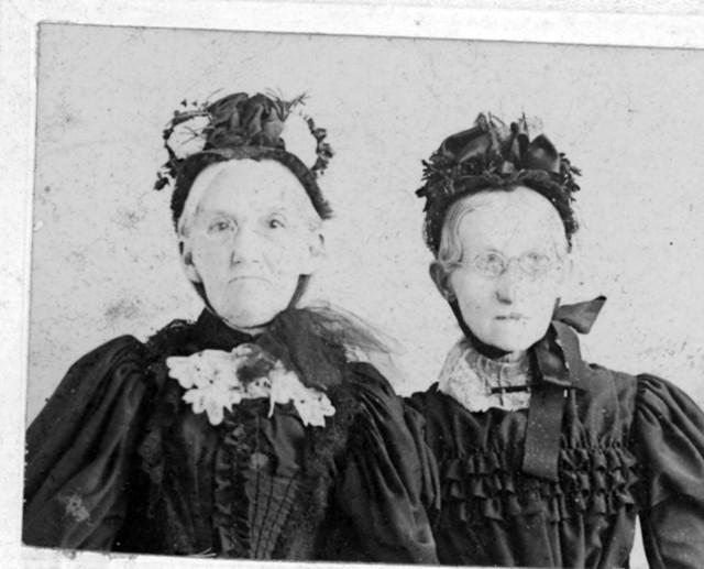 Portrait of Elizabeth Emery Gates and an Unidentified Woman