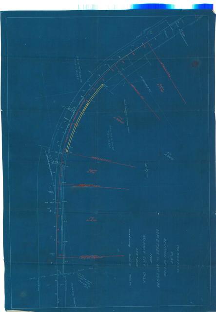 The K. C. S. Ry. Co. Plat Revision of line M.P. 279.24 to M.P. 280.85 near Marble City, Okla.