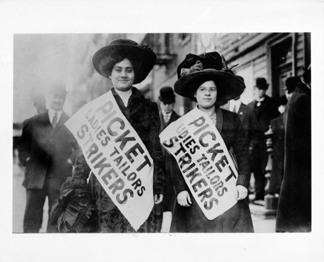 Women Picket during Ladies Tailors Strike