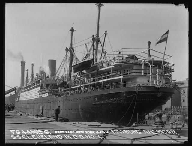 Hamburg American Steamship Cleveland in Dry Dock Number 4