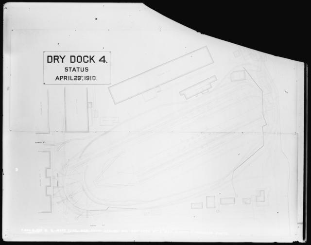 Dry Dock Number 4, Map, Monthly Progress Photo