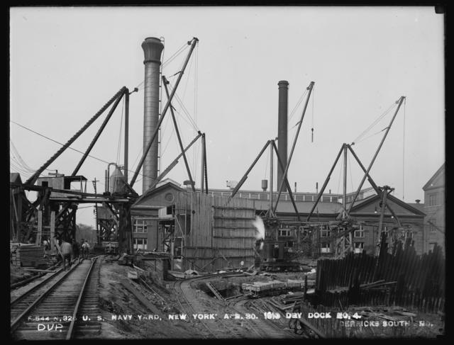 Dry Dock Number 4, Derricks South End