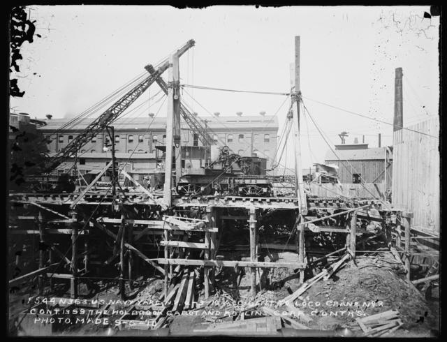 Accident to Loco, Crane Number 2, Contract 1399, Holbrook Cabot and Rollins Corporation, Contractor, Photo Made September 6, 1910